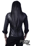 Black invisible U-Part wig