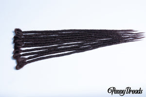"Dark Brown Single Ended Synthetic Dreadlock Extensions 20"" - Penny Dreads & Wigs"