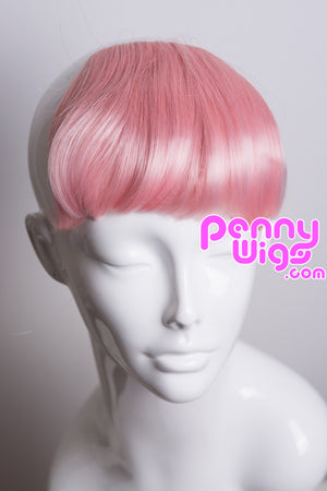 Pastel Pink Clip-In Bangs - Penny Dreads & Wigs