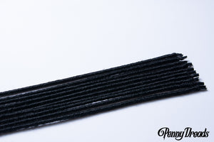 Black U-Tip Synthetic Dreadlocks (10 pieces) - Penny Dreads & Wigs