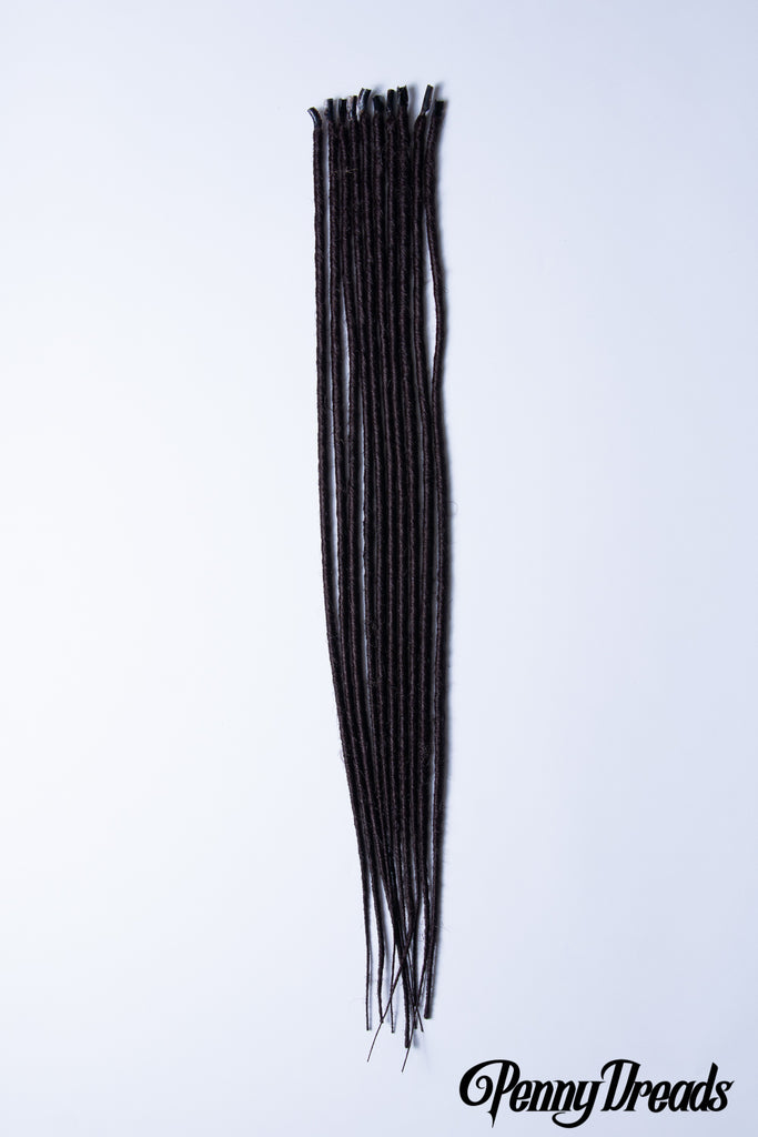 Dark Brown U-Tip Synthetic Dreadlocks (10 pieces) - Penny Dreads & Wigs