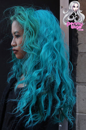 Teal Invisible U-Part Wig - Penny Dreads & Wigs