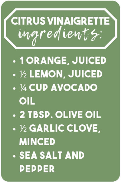 Citrus Vinaigrette ingredients