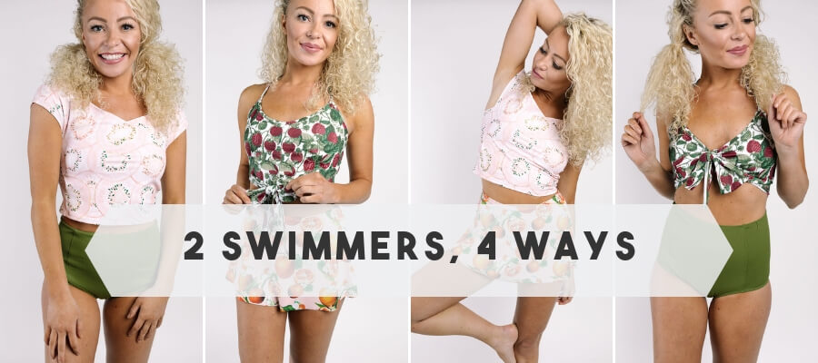 Kortni Jeane Fruity Collection 2 Swimmers, 4 Ways