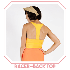 kortni jeane racer-back top