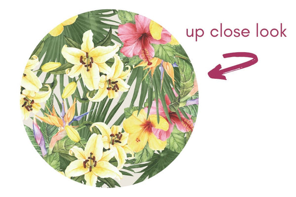 up close look: tropical floral