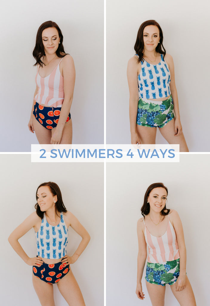 7f60a6c3ac169 ... patterns together, that might be more unexpected, but look amazing and  can inspire you to maybe go out of your comfort zone when mixing your swim  suits!
