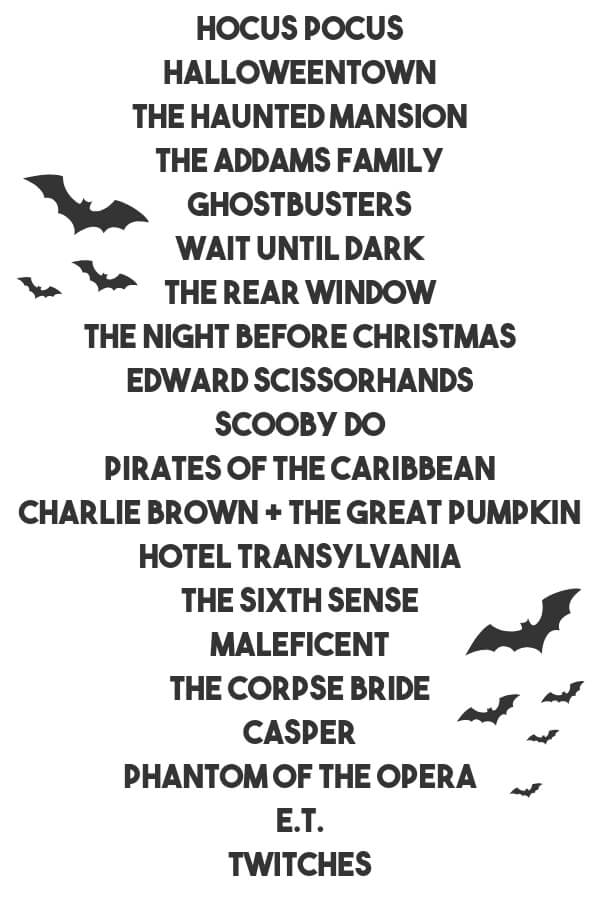 Not Too Spooky Halloween Movies
