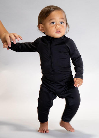 Baby Romper One-Piece | Solid Black
