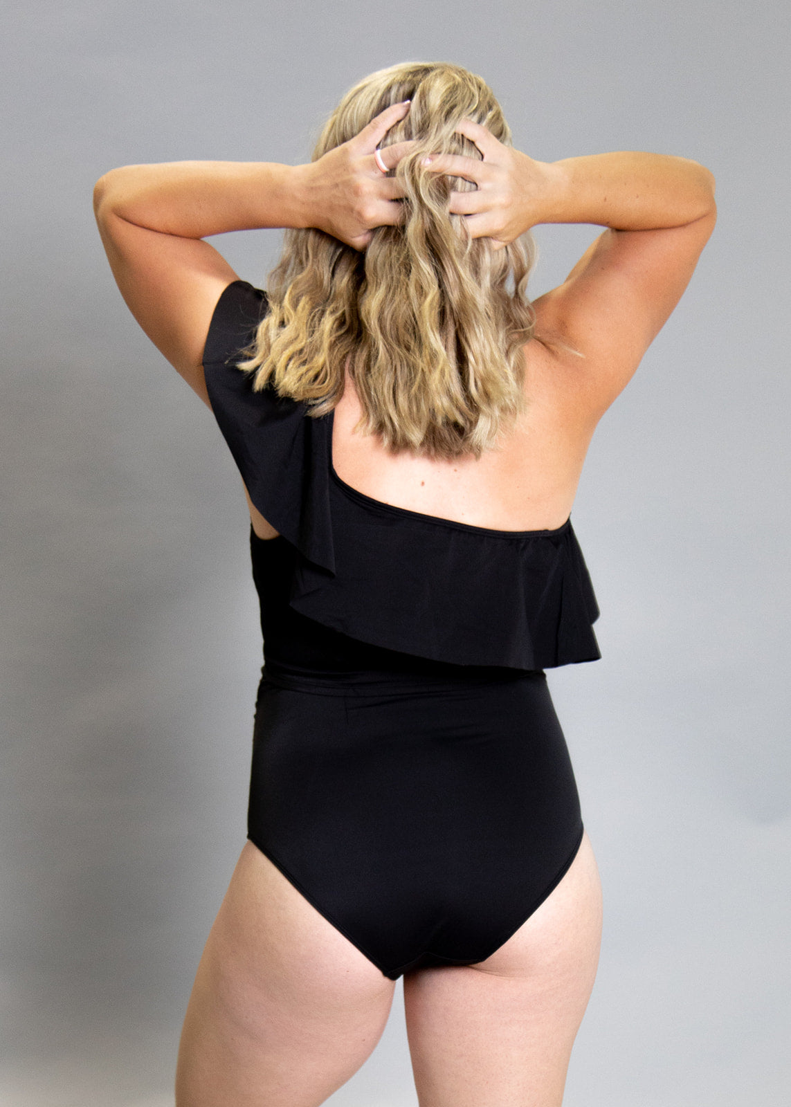 High-Waisted Swimsuit Bottom - Maternity - Black