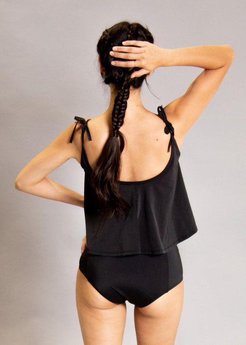 High-Waisted Swimsuit Bottom - Black