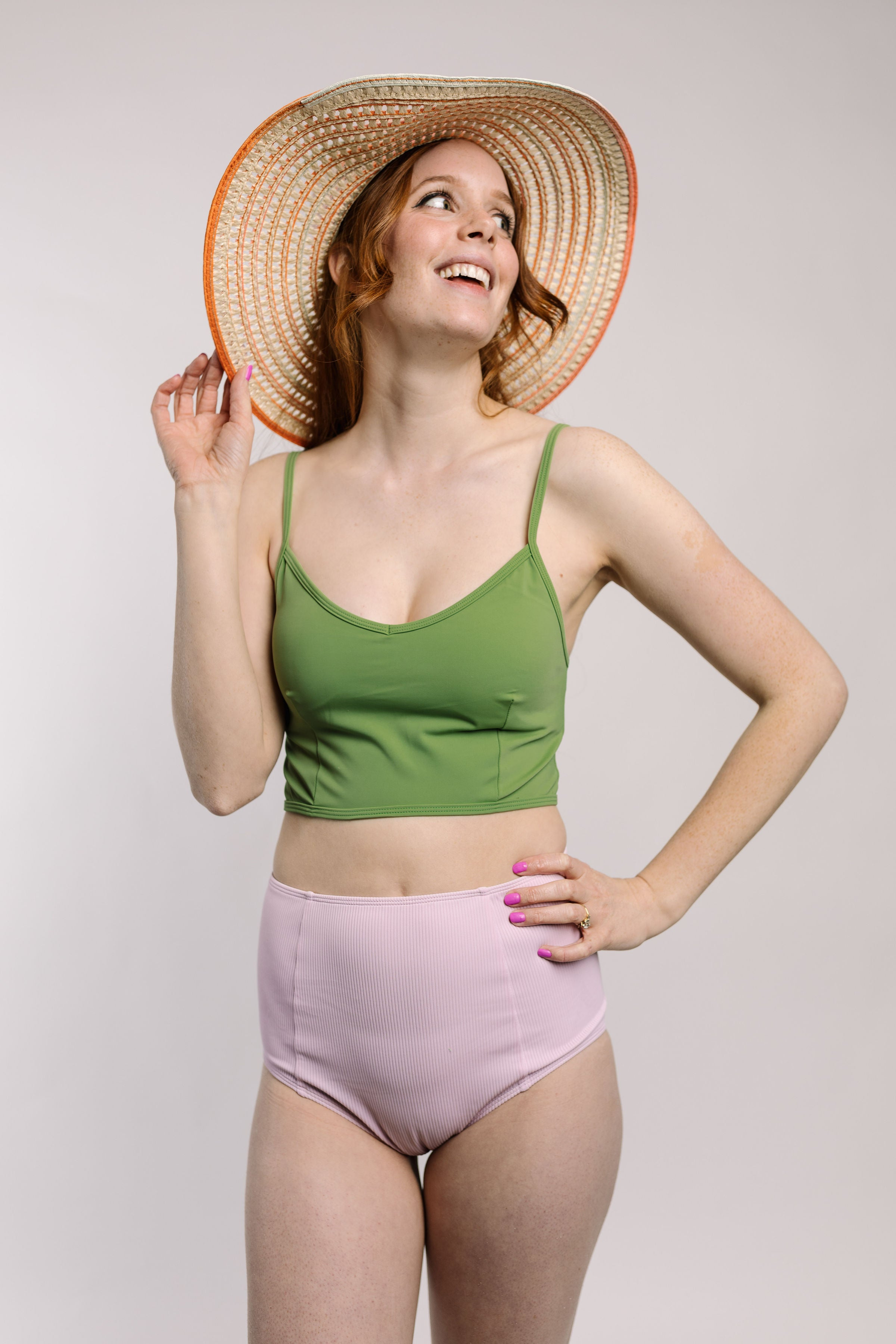 High Waisted Swimsuit Bottom - Poppin' Pink