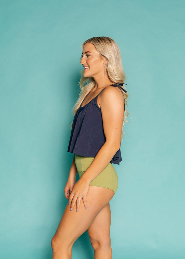 High-Waisted Swimsuit Bottom - Green