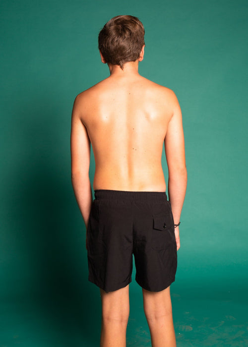 Youth Men Trunks | Solid Black