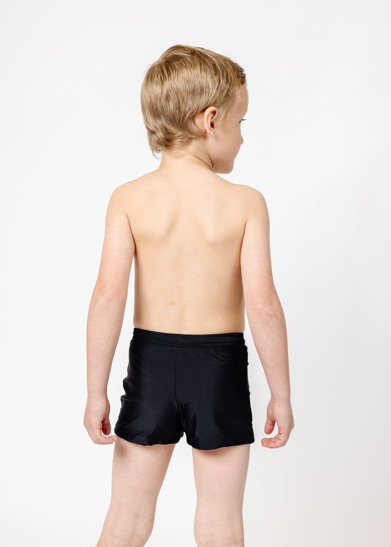 Mini Euro Shorts | Solid Black