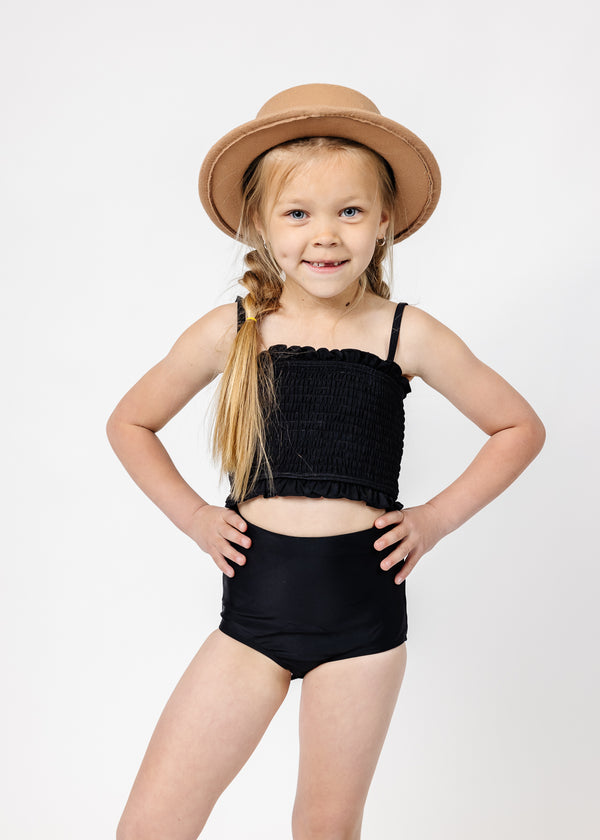 Mini High-Waisted Bottoms | Solid Black