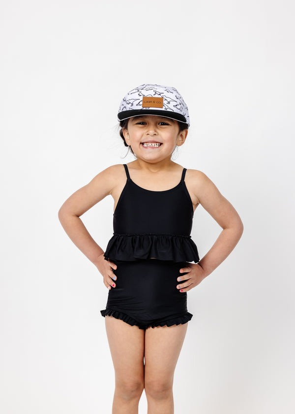 Mini All Ruffled Up Bottoms | Solid Black