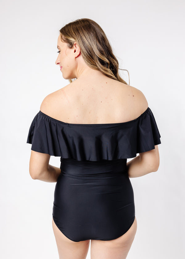 Ruffled Around Top | Solid Black