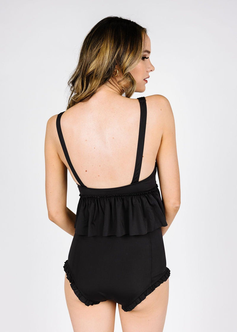 All Ruffled Up Bottoms | Solid Black