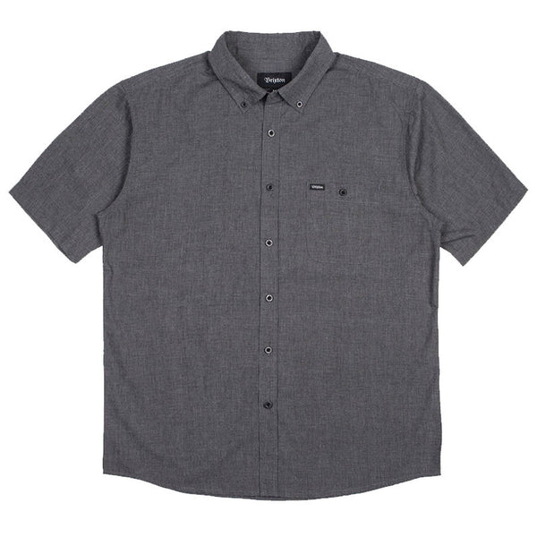 Brixton Central S/S Woven- Heather Black