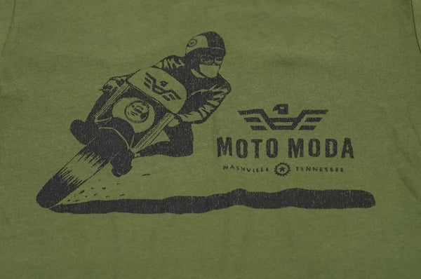 Carving Motorcyclist Silk Screen T