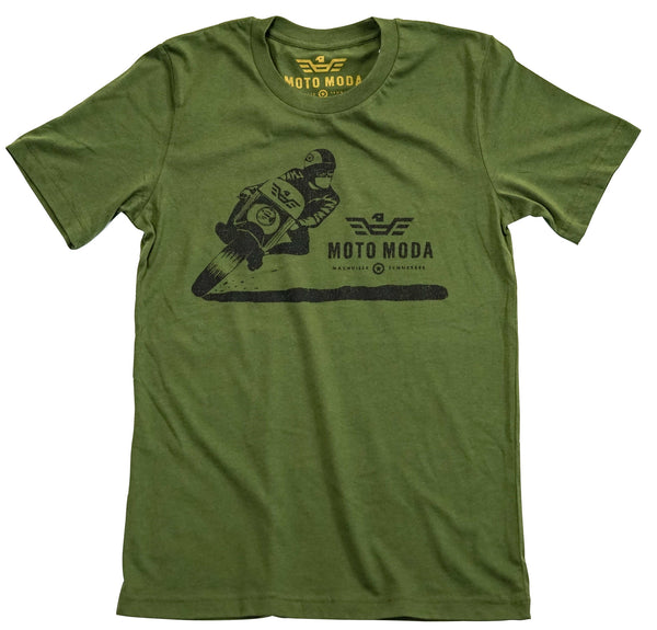 Leaning Motorcyclist Silk Screen T