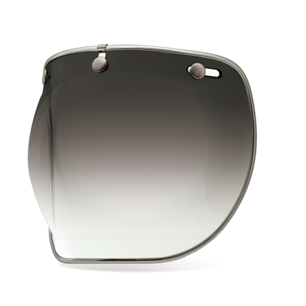 Bell Helmet's bubble shield deluxe for wind and bug protection in Smoke Gradient