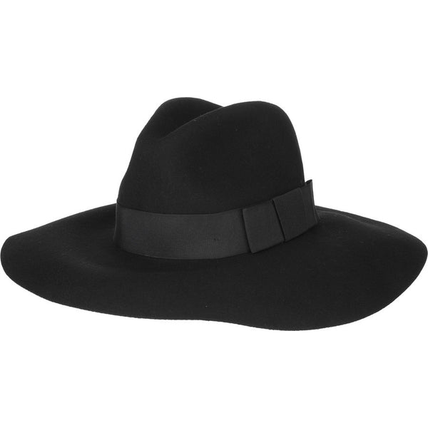 Brixton Indiana Fedora - Washed Black