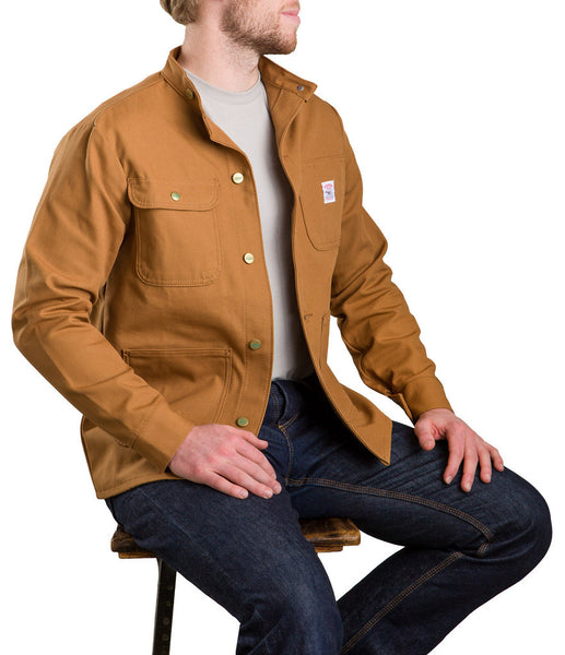 Brown Duck Banded Collar Jacket - Pointer Brand