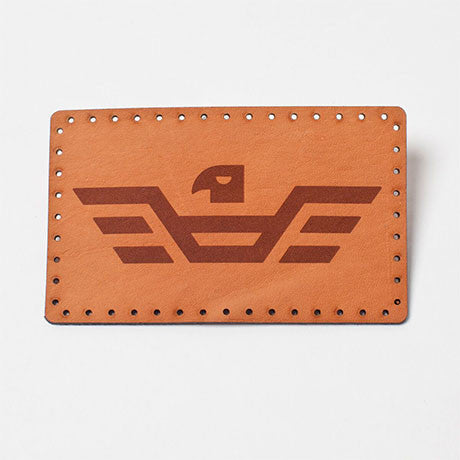 Moto Moda Leather Logo Patch