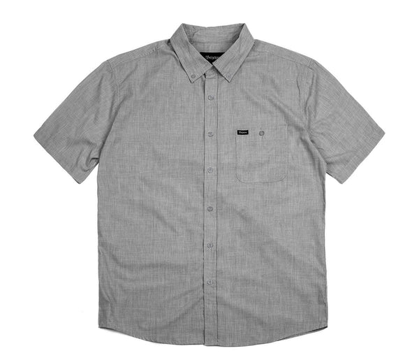 Brixton Central S/S Woven Heather Grey