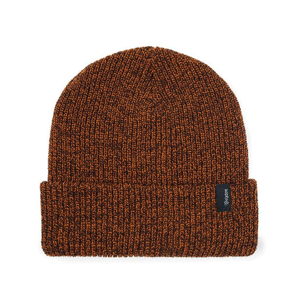 Brixton Heist Beanie - Orange/Brown