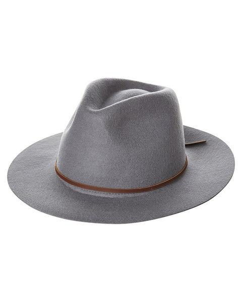 Brixton Wesley Fedora - Light Grey