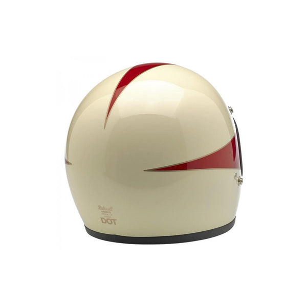 Biltwell Gringo - Scallop Antique White/Red