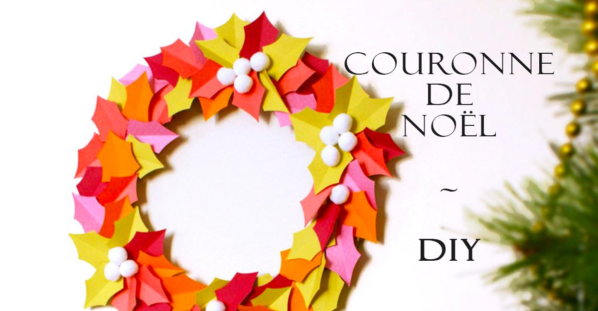Couronne de houx papier acidulé-crée la tienne-diy-PARIDEO design durable