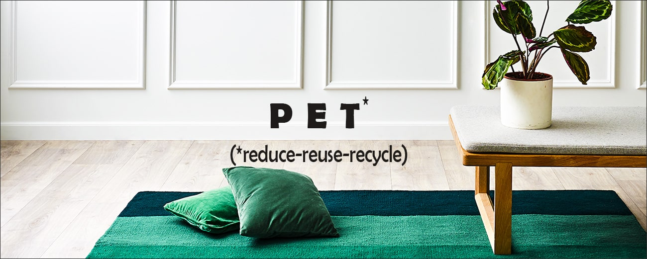 Collection tapis modernes plastic 100% PET by RugSolid-PARIDEO design contemporain durable