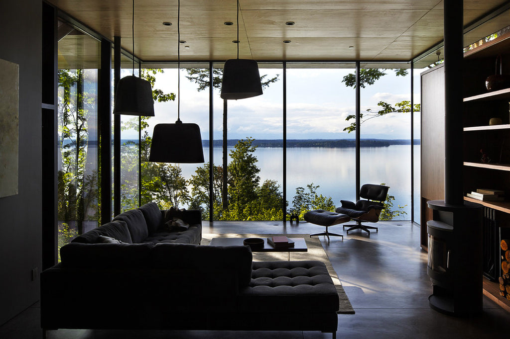 Case Inlet Retreat,Washington - living room - as seen on PARIDEO