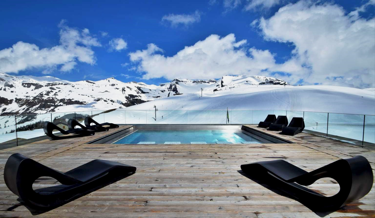Chetzeron design Hotel, Cran Montana-swimming pool-as seen on PARIDEO sustainable interior design