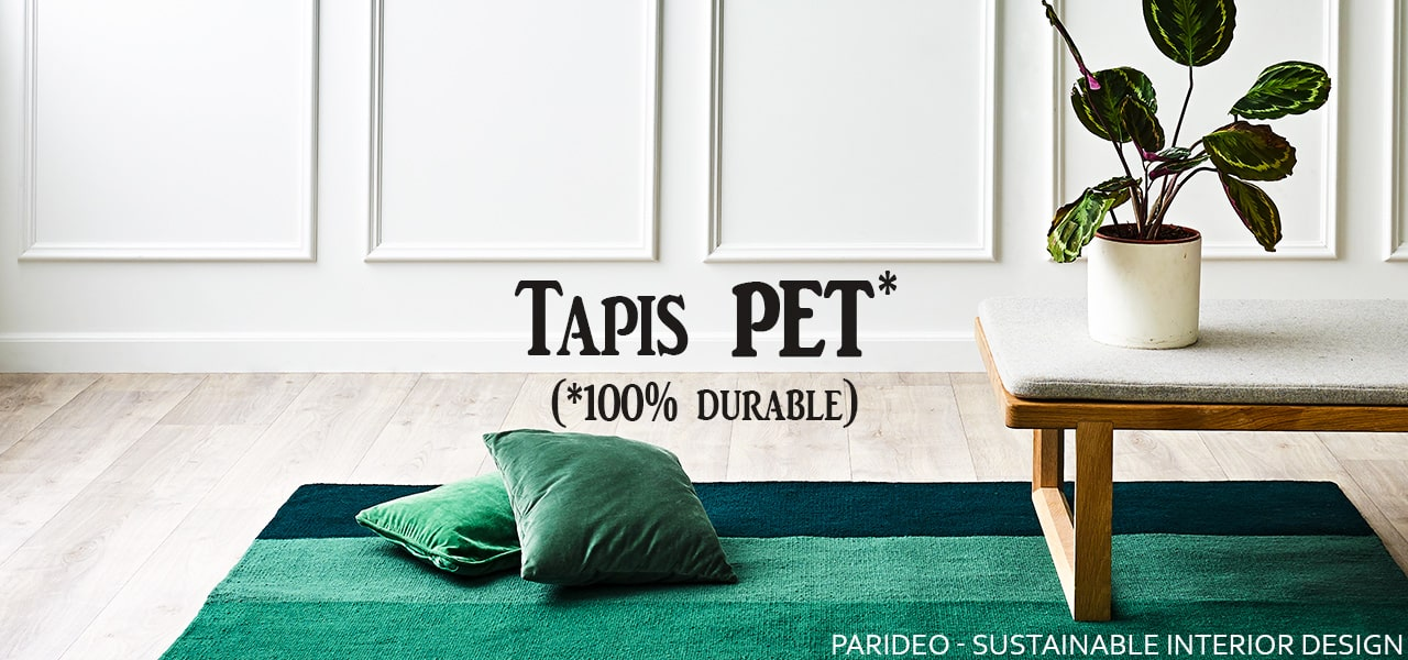 Collection Tapis plastic PET 100% durable by RugSolid-PARIDEO design durable
