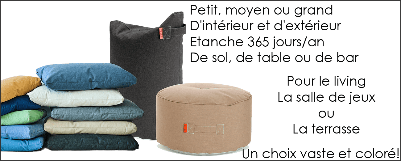 Collections Coussins et poufs by Trimm-en vente sur PARIDEO design durable