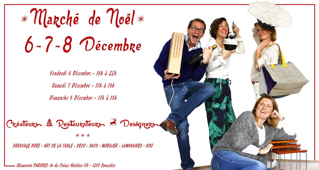 Invitation Marché de Noël 2019-vente privé-PARIDEO design durable