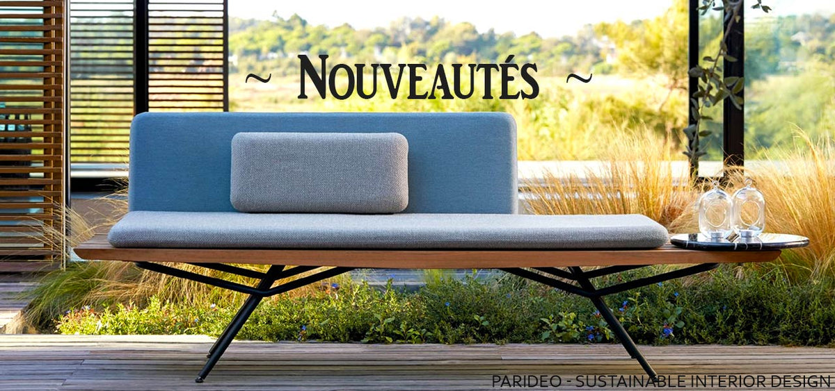 Nouveaux mobilier et articles de déco design-made in Europe-PARIDEO design contemporain durable
