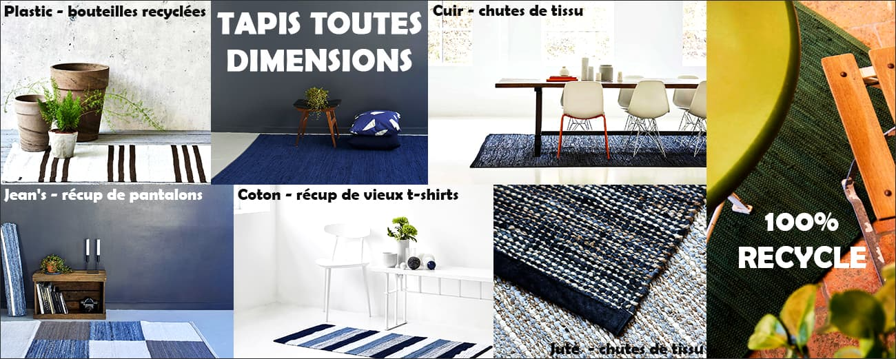 Collection tapis modernes 100% recycles by Rugsolid PARIDEO design durable contemporain