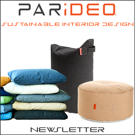 signup inscription newsletter-poufs et coussins-PARIDEO design durable et contemporain