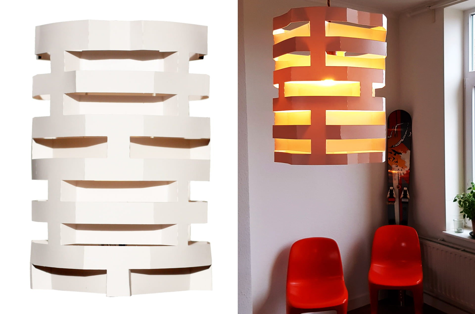 Abat-jour papier Stripes by Louis Theillier-en vente sur PARIDEO design durable