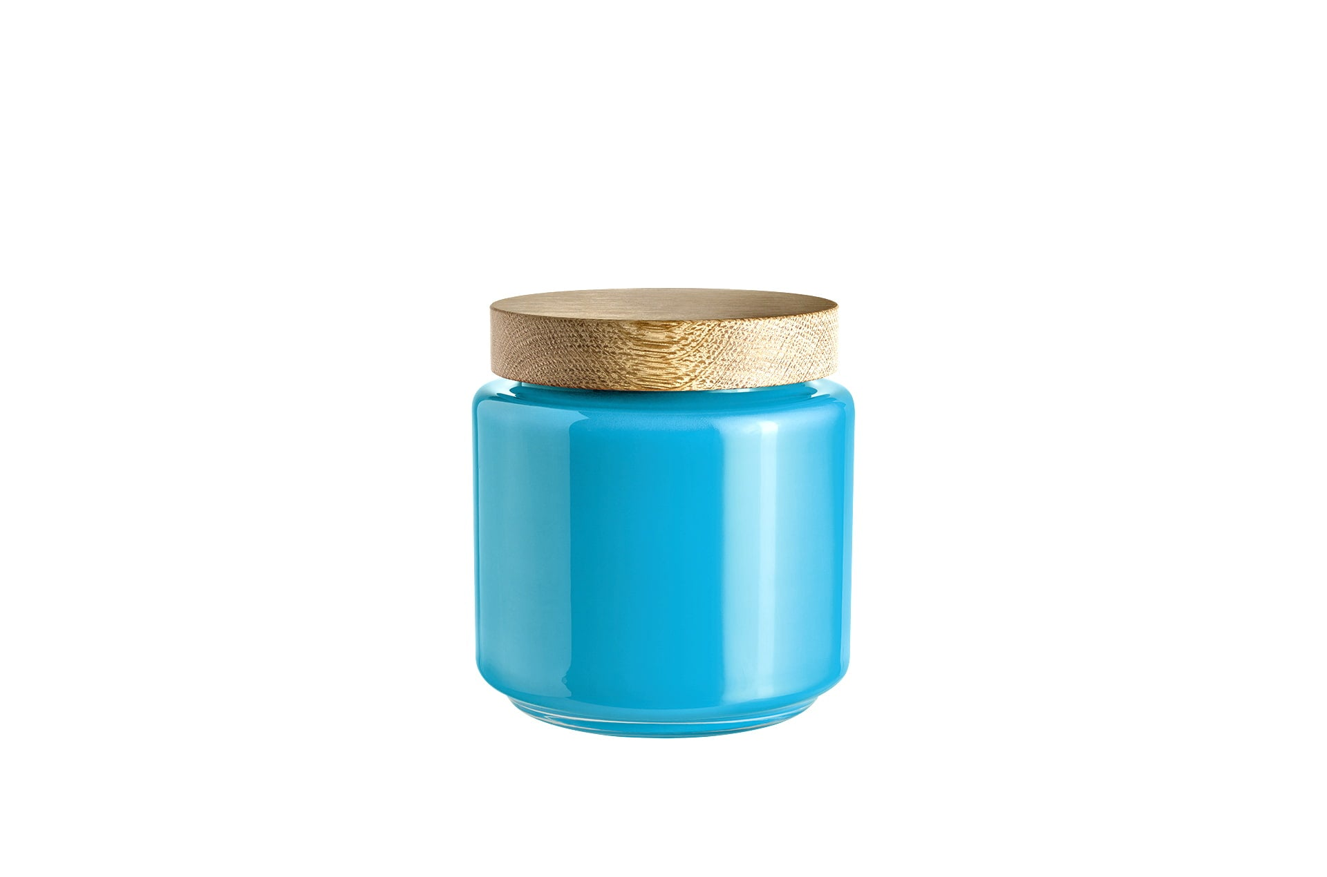 Bocal verre soufflé bleu 2L PALET JAR by Holmegaard-PARIDEO design durable