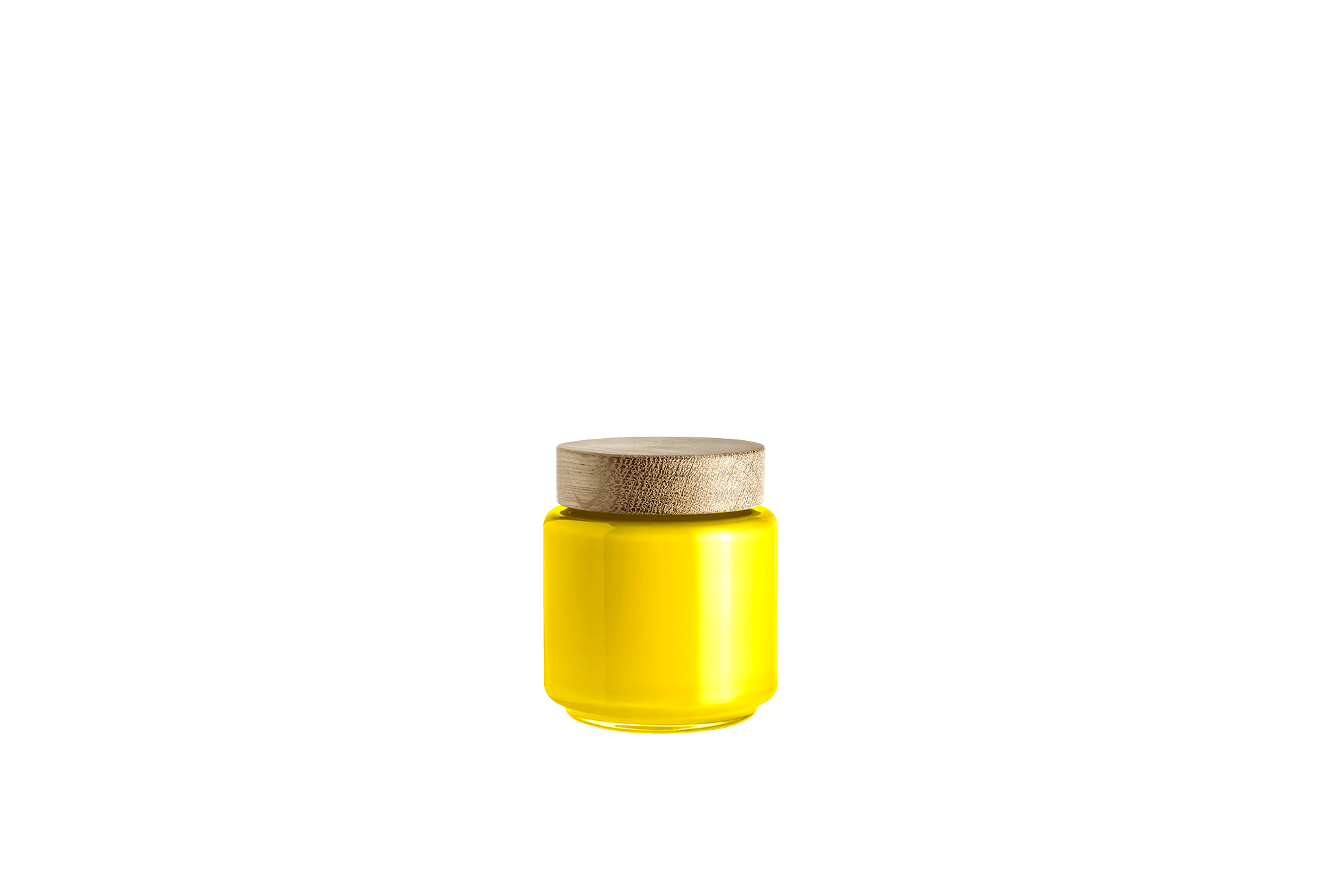 Bocal verre soufflé jaune 0.5L PALET JAR by Holmegaard-PARIDEO design durable