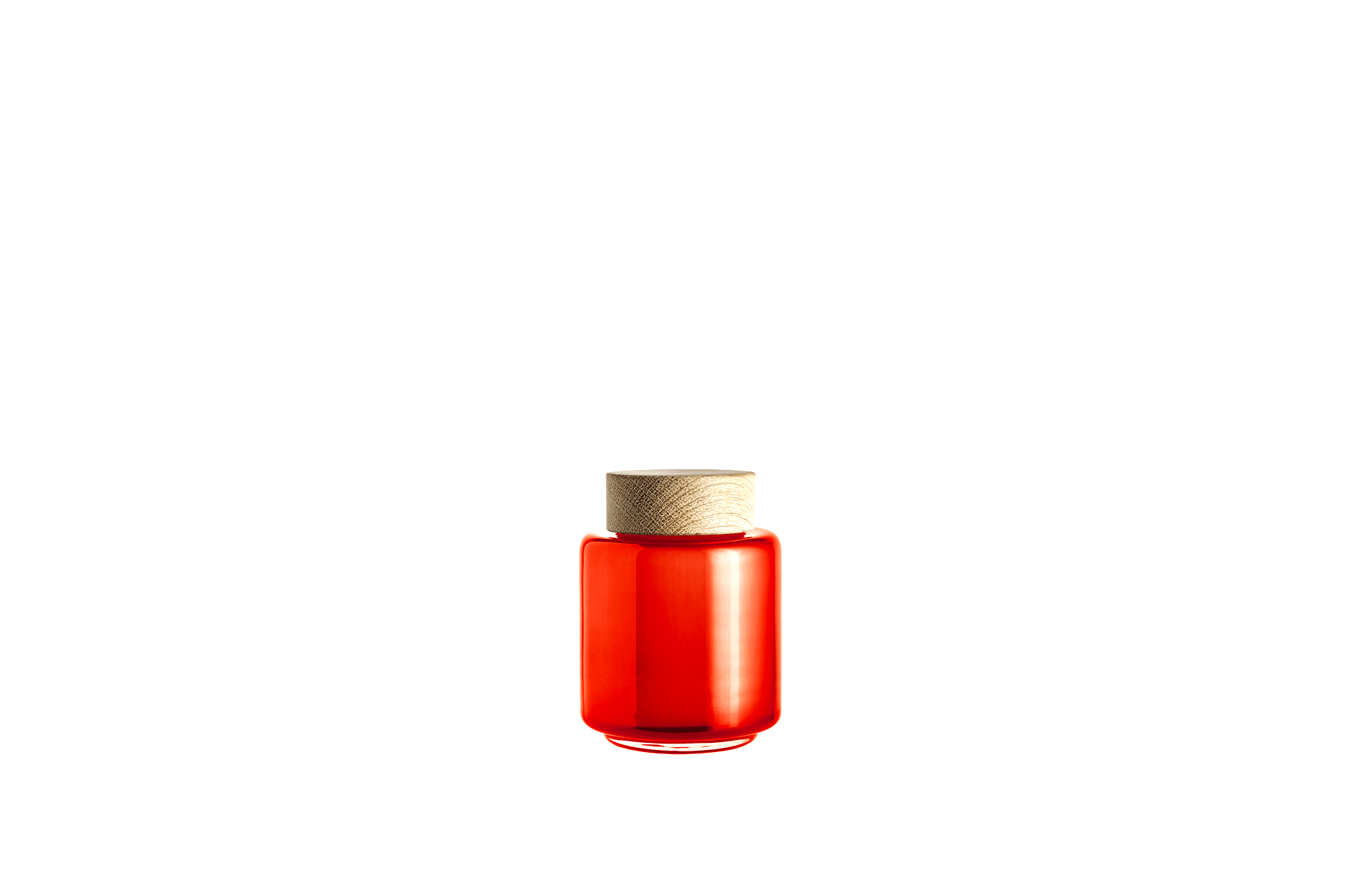 Bocal verre soufflé orangé 0.35L PALET JAR by Holmegaard-PARIDEO design durable