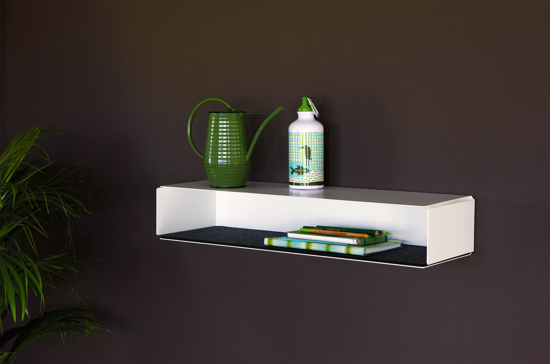 Etagère murale Side-Box blanc-feutre noir by Slawinski-PARIDEO design durable