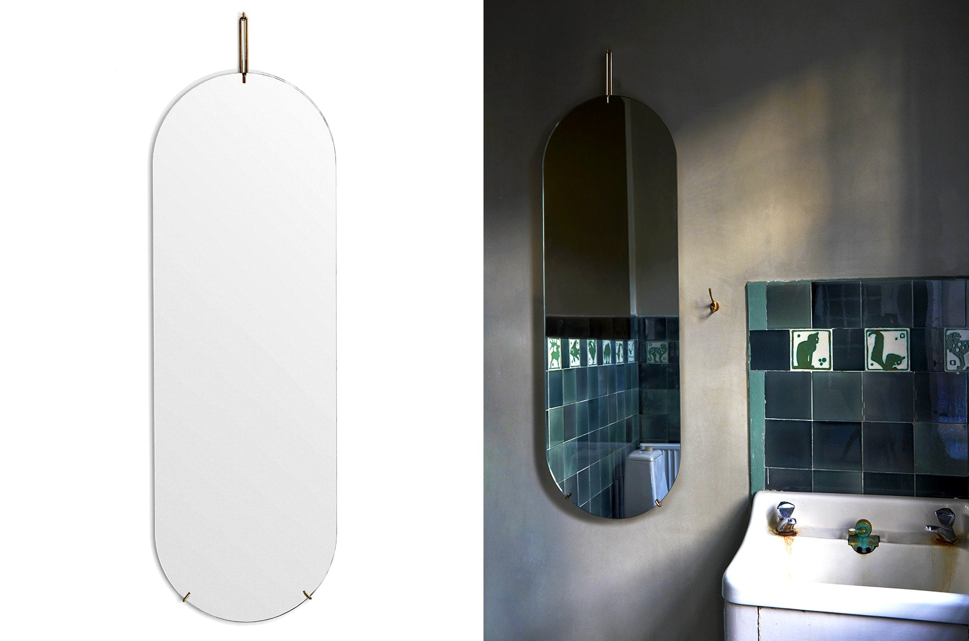 Grand miroir vertical cuivré 133cm WALL MIRROR TALL by Moebe-ambiance-PARIDEO Design durable